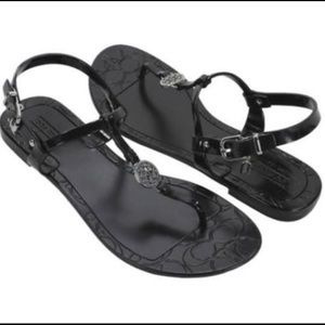 Coach Pansy Jelly Sandals size 7 Black